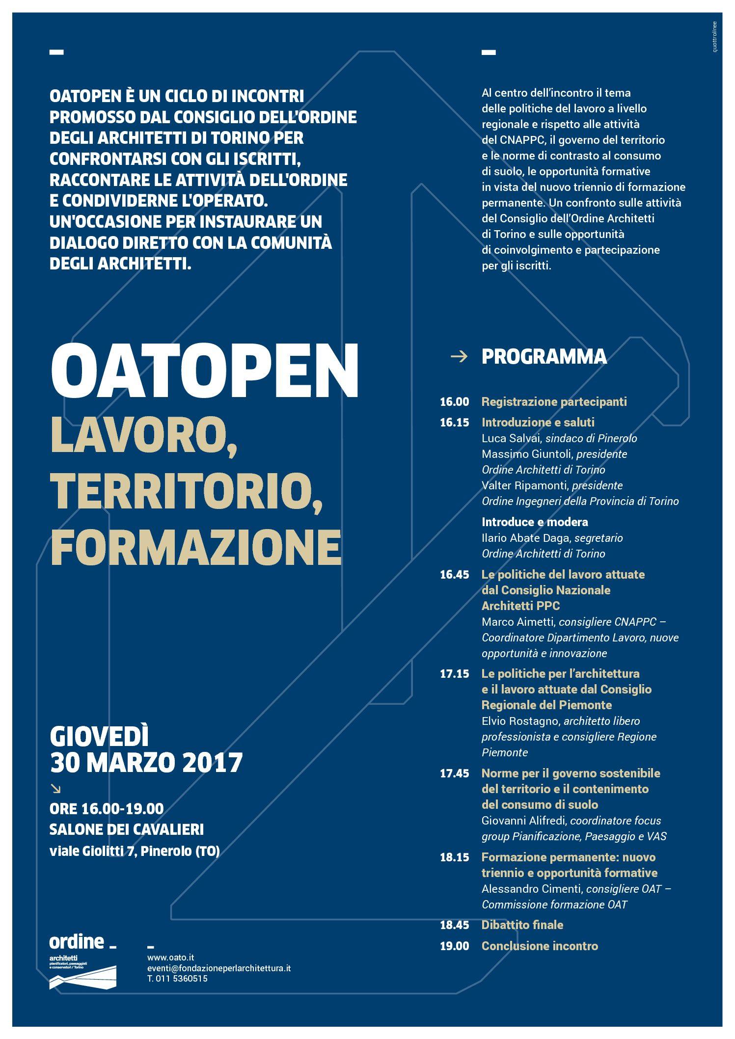 Lavoro Per Architetti Torino oatopen_pinerolo | ordine degli architetti di torino